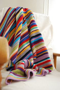 Simple stripes, great for scraps and leftover yarn