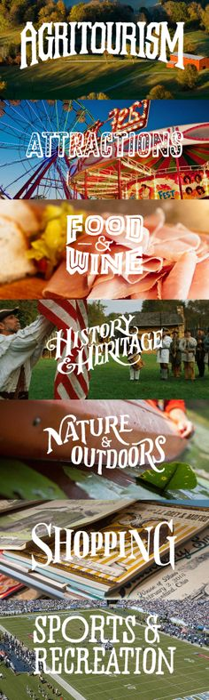 'Things to do in Tennessee' hand drawn fonts. #webdesign #fonts