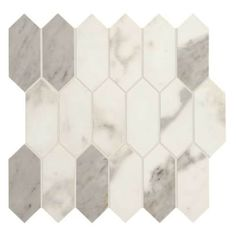 Daltile Marble View Calacatta Matte 12 in. x 12 in. x Color Body Porcelain Mosaic - The Home Depot Mosaic Wall Tiles, Bathroom Floor Tiles, Marble Mosaic, Marble Floor, Dal Tile, Glitter Grout, Calacatta Marble, Travertine, Thing 1