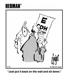 Everybody wants to study the eye chart :) Good Jokes, Funny Jokes, Hilarious, Eye Jokes, Optometry Humor, Herman Cartoon, Vitreous Humour, Cartoon Eyes, Eye Chart