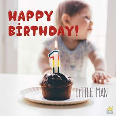 Happy Birthday, Little Man. Happy 1st Birthday Wishes, Birthday Wishes Messages, Happy 1st Birthdays, Wishes For Baby, Man Birthday, Birthday Celebration, Wish Kids, Happy Parents, Love Is Sweet