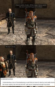 welcome to the mage hell spiral — Dragon Age II + text posts, part 2 More DA text...
