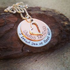 I Loved You at First Sight - Personalized Necklace - Mommy Jewelry - Grandma - Mom Gift - Hand Stamped Necklace - Custom Kids Names Necklace on Etsy, $28.00