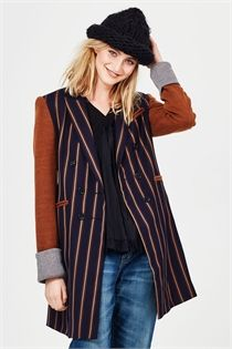 DOWN THE LINE JACKET-shop by style-Lynn Woods Online Store Wood Online, Frill Tops, Line S, Line Jackets, No Frills, Blue Jeans, Vest, Suits, Winter