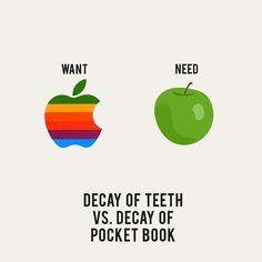 Want vs. Need