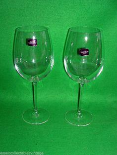 2 x Royal Worcester Bordeaux Large Wine Glasses Grand C...