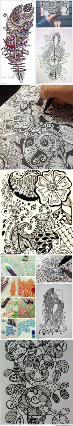 DIY Face Masks  : Zentangle Patterns...  https://diypick.com/beauty/diy-masks/diy-face-masks-zentangle-patterns/