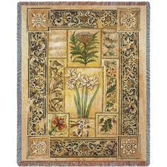 Music In The Garden Art Tapestry Throw