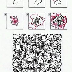Ginili pattern by Randi Wynne-Parry zentangle tangled tangle tangles doodle doodles art calm peaceful relaxation relax unwind meditation Doodles Zentangles, Zentangle Drawings, Doodle Drawings, How To Zentangle, Zentangle Art Ideas, Easy Zentangle Patterns, Art Doodle, Tangle Doodle, Dibujos Zentangle Art