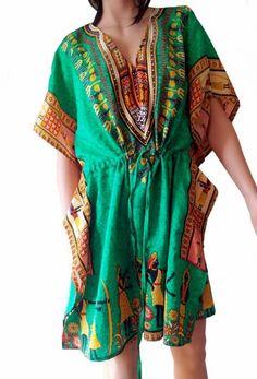 Kjole / tunika etnisk mønster | Alternativ nettbutikk med organiske smykker og klær inspirert av naturen.