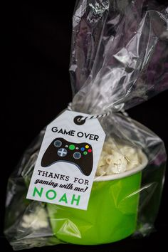 Video Game Favor Tags with Black Controller Printable Video Game Party Favor Tags by Printable Studio - Video Games - Ideas of Video Games - Video Game Favor Tags with Black Controller by Xbox Party, Game Truck Party, 13th Birthday Parties, Birthday Games, 9th Birthday, Birthday Ideas, Birthday Wishes, Birthday Invitations, Party Favor Tags