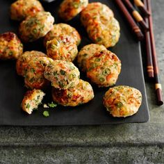 thai fishcakes with cucumber relish