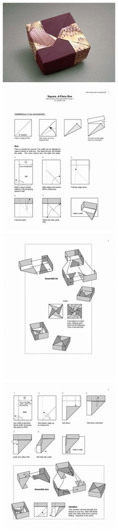 Origami Square Four Pieces Box                                                                                                                                                                                 More