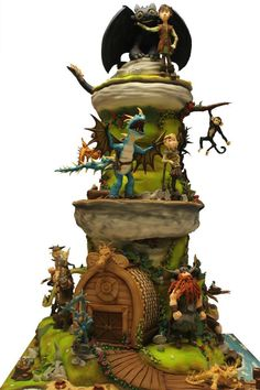 Cake Wrecks - Sunday Sweets: Fraggles and Dragons and Groot, Oh My! - How to Train a Dragon Cake Crazy Cakes, Fancy Cakes, Cute Cakes, Dragon Birthday, Dragon Party, Birthday Cake, Dragons Cake, Cake Story, Cake Wrecks