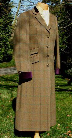 Womens Tweed Long Coat in Eden Tweed | My Style | Pinterest