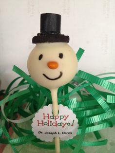 Mr. Snow Man Cake Pop