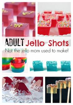 Adult Jello Shots - no the jello mom used to make! These would be fun for New Years Eve!