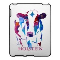 IPad Cover Holstein Cow in Purple & Blues ipad/ iphone/ ipod cases, and other products by Jo Lynch / Whimzicals. http://www.zazzle.com/whimzicals/gifts?cg=196651178982628172#