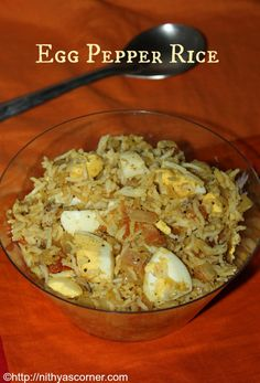 A simple and quick rice made with boiled eggs, cooked rice and simple spices. Onion Bhaji Recipes, Rice Recipes, Healthy Dinner Recipes, Vegetarian Recipes, Cooking Recipes, Veg Recipes Of India, Indian Food Recipes, Rice Dishes, Rice