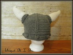 A personal favorite from my Etsy shop https://www.etsy.com/listing/232074552/crochet-viking-hat-with-horns-baby-size