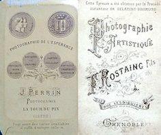1)PERRIN - La Tour du Pin, Isère  2)ROSTAING Fils - Grenoble (click-clack.fr)