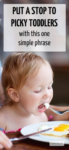 Put an end to picky toddlers with this one simple phrase. Dr Orlena Kerek explains why the