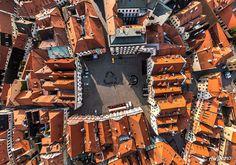 11 Imagens Aéreas Incríveis De Cidades: Ceský Krumlov, República Tcheca.