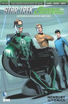 Green Lantern / Star Trek: Spectrum Wars - Issue #1 Newbury Comics Exclusive Variant Comic Book Cover