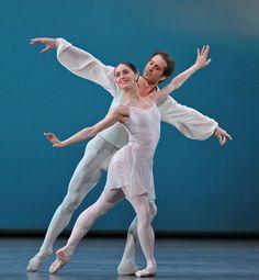 Marianela Nunez with Nehemiah Kish in Balanchine's Ballo della Regina. Photo: Dave Morgan