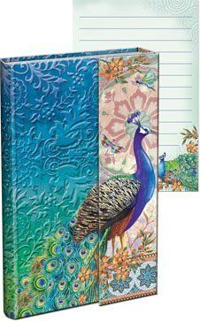 Punch Studio Royal Peacock Magnetic Flap Mini Journal by Punch Studio, http://www.amazon.com