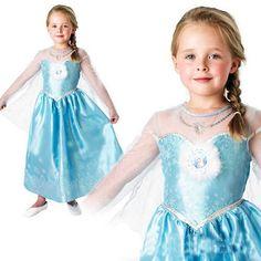 Summer Kids Girl Princess Dresses 2017 Cartoon Anna Elsa Style Girl Kid Princess Dress Cosplay Snow Queen Toddler Dress For Girl