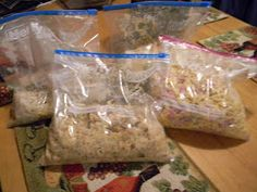 Easy Freezer meals (tuna casserole, cheesy ham and noodles)