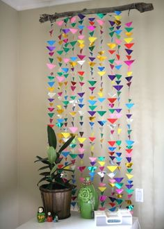 DIY Decorations for Girls Room - Hanging Triangle Garland  | Girls Bedroom Decor Ideas