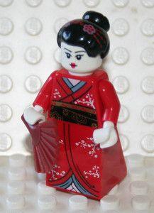 LEGO MINI FIGURE PEOPLE KIMONO JAPANESE GIRL JAPAN WOMAN
