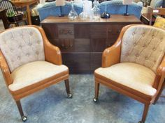 The Lived In Room - Mid-century club chairs