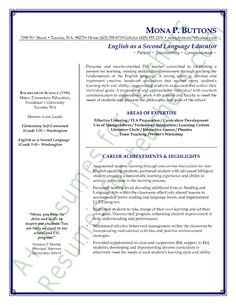 Teaching Sample Resume Writing A Strong Resume Profile Or Summary To Engage The Reader .