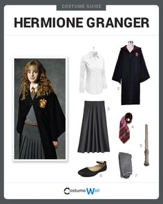Dress Like Hermione Granger from Harry Potter. See more costumes and cosplays of Hermione.
