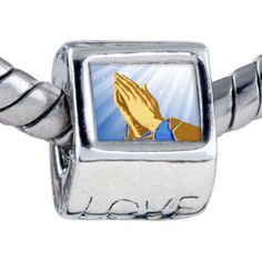 Pugster Bead Religion-Praying Hands Photo Love European Charm Beads Fits Pandora Bracelet Pugster. $12.49. It's the photo on the love charm. Fit Pandora, Biagi, and Chamilia Charm Bead Bracelets. Unthreaded European story bracelet design. Hole size is approximately 4.8 to 5mm. Bracelet sold separately Hand Photo, Praying Hands, Charm Bead, Love Charms, Bracelet Designs, Jewelry Bracelets, Religion, Cufflinks, Pandora