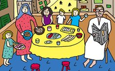 My former colleague @Malaka Gharib did some fantastic illustrations for Saveur on The Perfect Egyptian Breakfast.