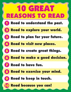 Reasons to Read   Learning Displays