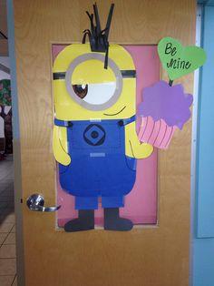 Minion v-day toddler door!