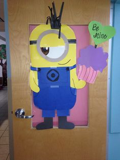 Minion v-day toddler door!