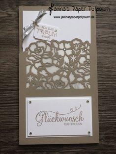 jpp - Gutschein zur Hochzeit / Verpackung / Karte / gift card holder/ wedding / Stampin' Up! Berlin / Florale Fantasie /  Florale Grüße / Perfekter Tag / Framelits Anhänger & Etiketten  www.janinaspaperpotpourri.de