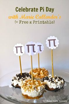 Free Printable Pi Day Pie Toppers