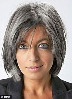 Short-Straight-Haircut-with-Long-Bangs Best Short Haircuts for Older Women Brown Hair With Highlights gray Haircuts Older short ShortStraightHaircutwithLongBangs Women Short Grey Hair, Short Hair Cuts, Short Hair Styles, Grey Hair Bob, Grey Hair Styles For Women, Grey Bob, Long Hair, Best Short Haircuts, Short Hairstyles For Women