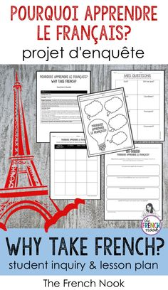 Physical education teaching french to kids lesson plans, teaching french to kids free printable, teaching french high school, teaching french to kids, teaching french Why Learn French, French Teaching Resources, Teaching Time, Spanish Activities, Teaching Spanish, Primary Teaching, Work Activities, Teaching Ideas, Teaching French Immersion
