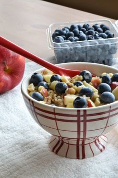 She Bakes Here: Apple and Blueberry Walnut Breakfast Quinoa
