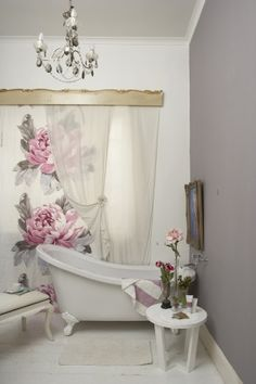 idea for silk screen printing or hand painting silk/ sheer curtain/screen....