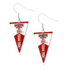 Texas Tech Red Raiders Women's Pennant Dangle Earrings