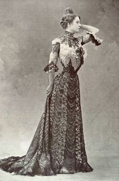 "1901 December, Les Modes Paris - Evening dress ""Colibri"" by Ernest Raudnitz"